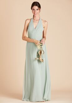 Birdy Grey Moni Convertible Dress in Sage Halter Bridesmaid Dress