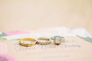 Princess-Cut Engagement Ring With Cushion Halo