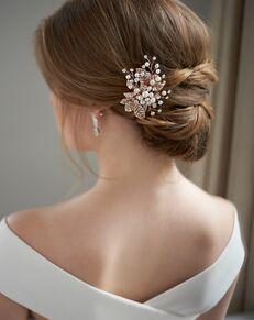 Dareth Colburn Petite Pearl & Leaf Clip (TC-2283) Silver Pins, Combs + Clip