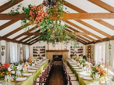 elegant rustic wedding reception venue