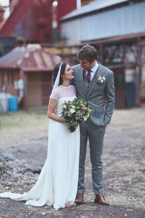 Vintage-, Industrial-Inspired Wedding