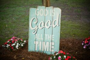Rustic Painted Wood Wedding Sign