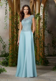 MGNY 71913 Blue Mother Of The Bride Dress