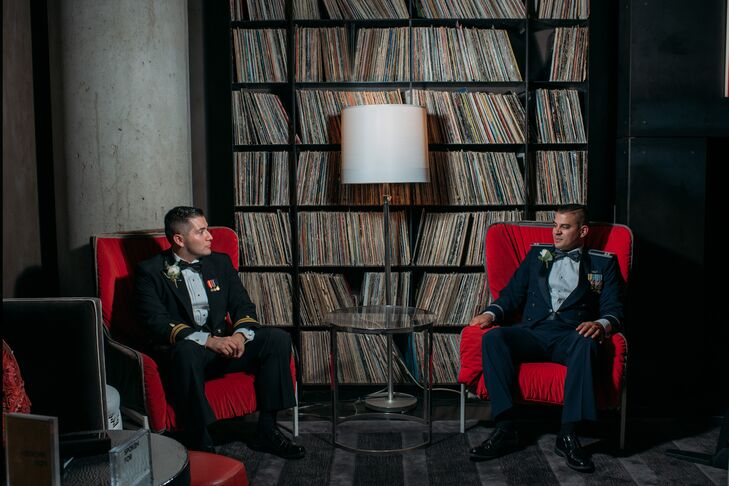 Grooms at the W Austin Hotel in Texas