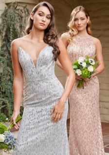 Belsoie sequin metallic bridesmaid dresses