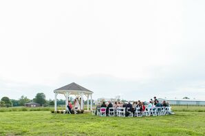 Kentucky Country Farm Outdoor Ceremony