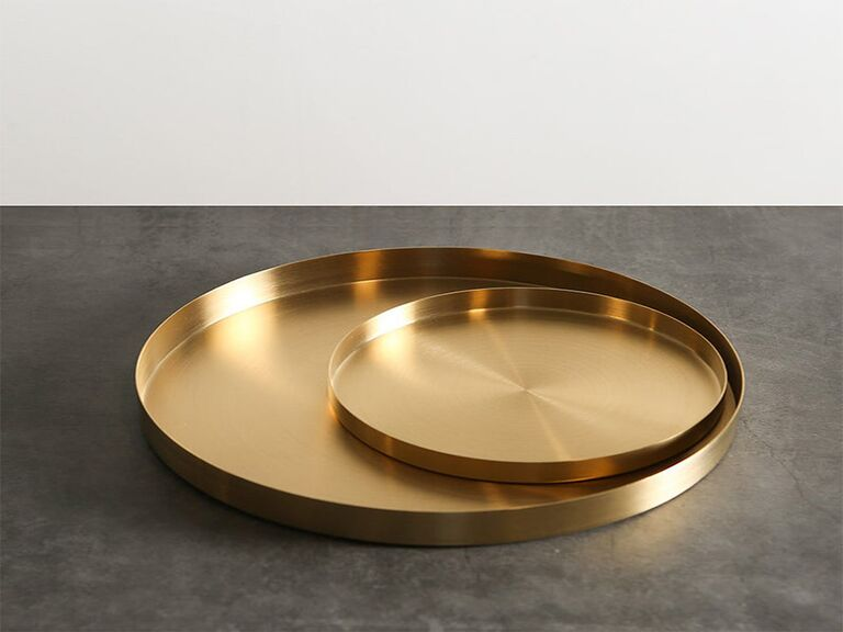 Etsy gold vanity trays
