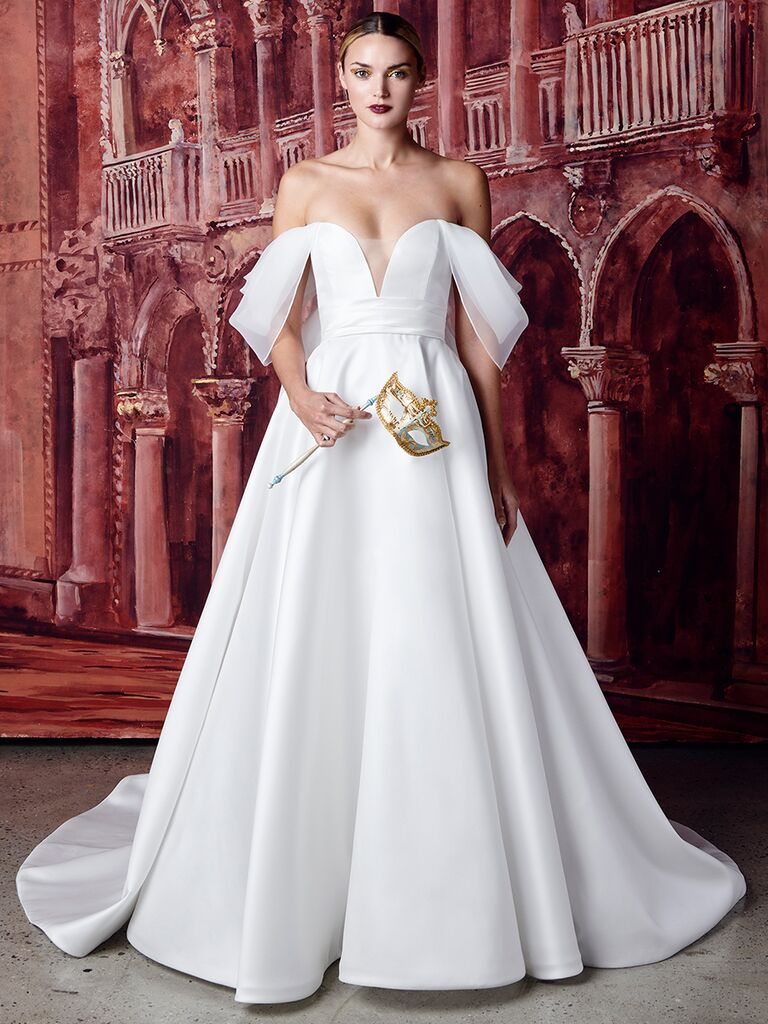 Isabelle Armstrong off-the-shoulder ballgown