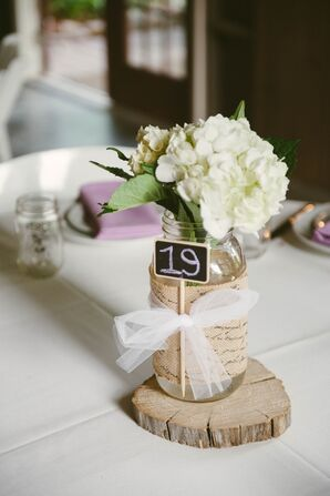 Bouquet Centerpieces in Jars