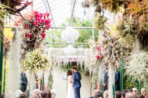 Modern and Colorful Jewish Garden Wedding