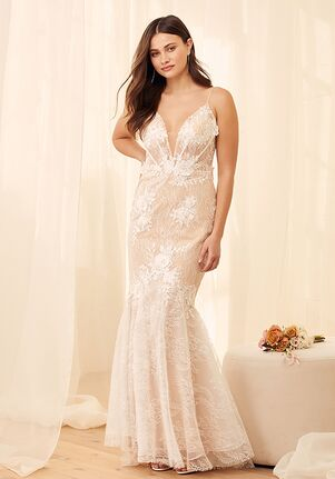 Lulus Luxe Bridal To Be Loved White Embroidered Lace Trumpet Maxi Dress Mermaid Wedding Dress