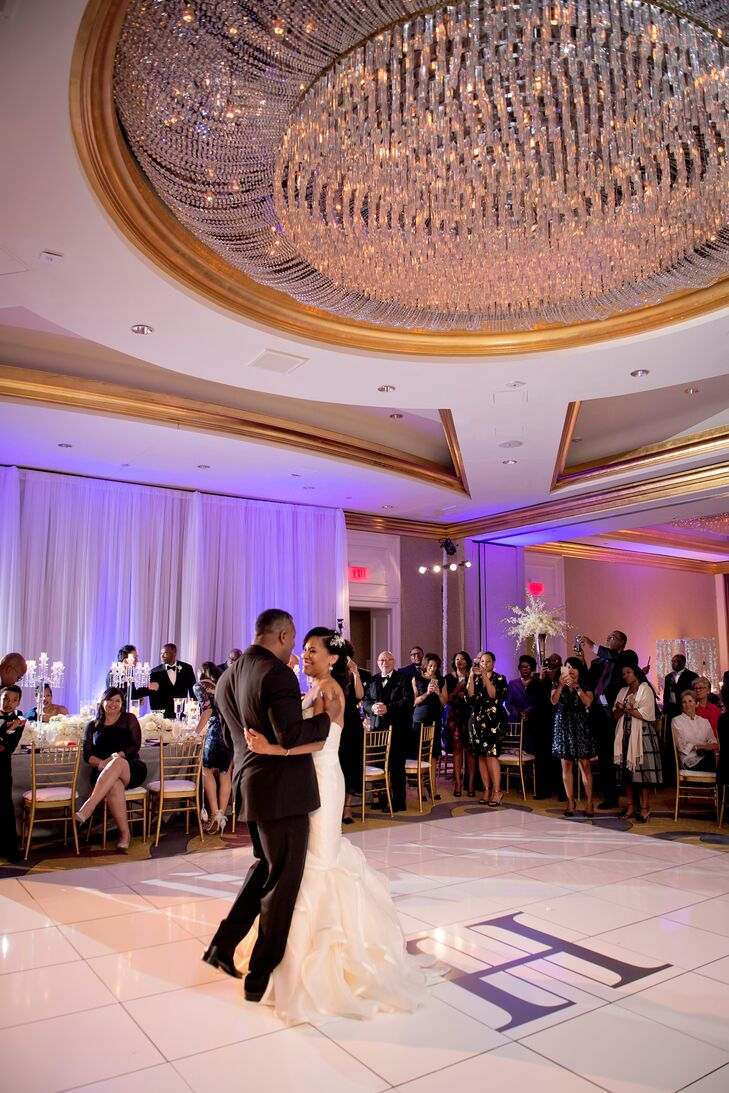 """The newlyweds entered their reception at the Four Seasons Hotel in Atlanta, Georgia, to Jay-Z's """"Public Service Announcement."""""""