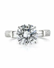 Mark Broumand Classic Round Cut Engagement Ring