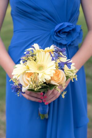 Gerbera Daisy and Rose Bridesmaid Bouquet