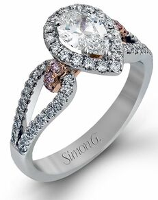 Simon G. Jewelry Pear Cut Engagement Ring