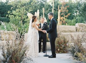 Natural Ceremony Among Stone and Ornamental Grass Arrangements