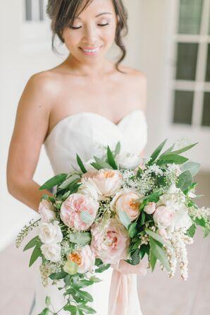 Large, Elegant Blush Pink Rose Bouquet