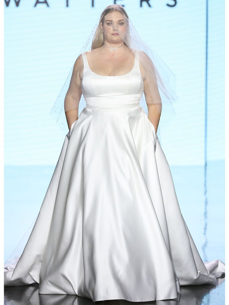 Watters wedding dress satin ball gown