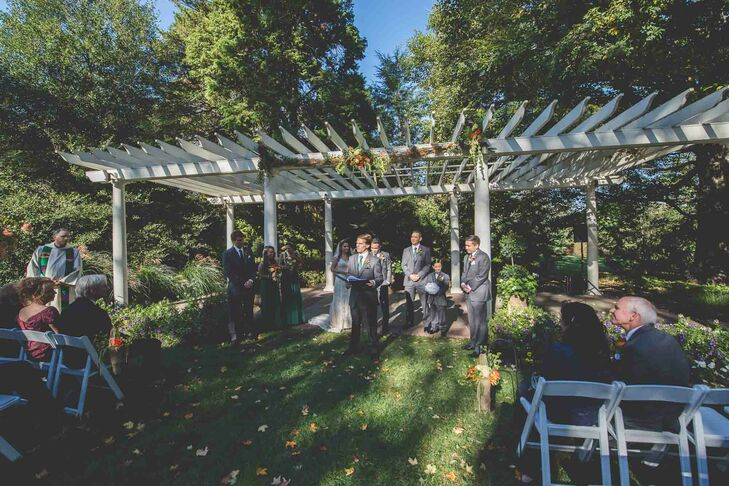 """""""We chose Knowlton Mansion because of its rustic charm and ability to have an outdoor ceremony,"""" Katie says. """"The dance floor and reception area were spacious, and the wine cellar was a nice touch. We also liked that we would be the only wedding party there."""""""
