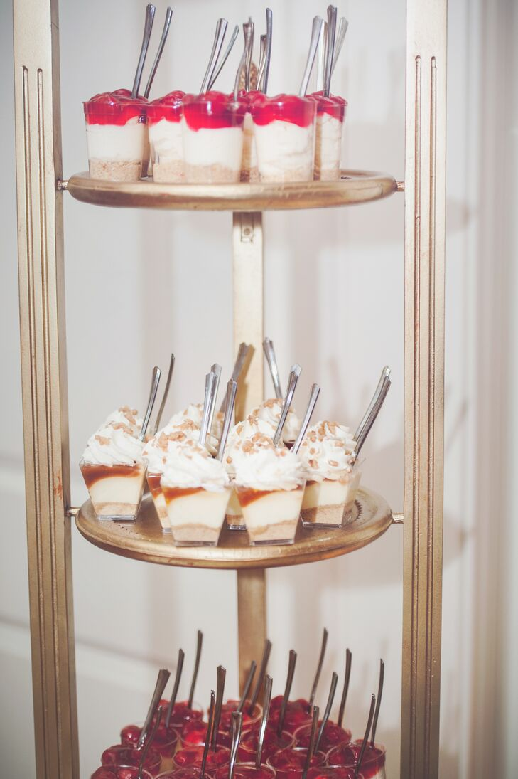 Wedding Desserts On Gold Stand