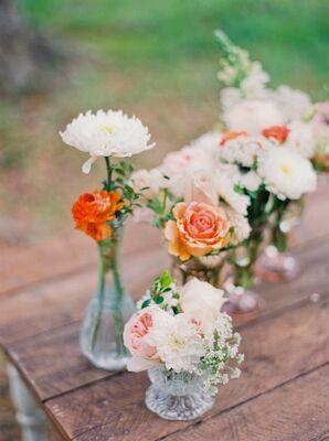 Dahlia, Garden Rose Ceremony Altar Accents