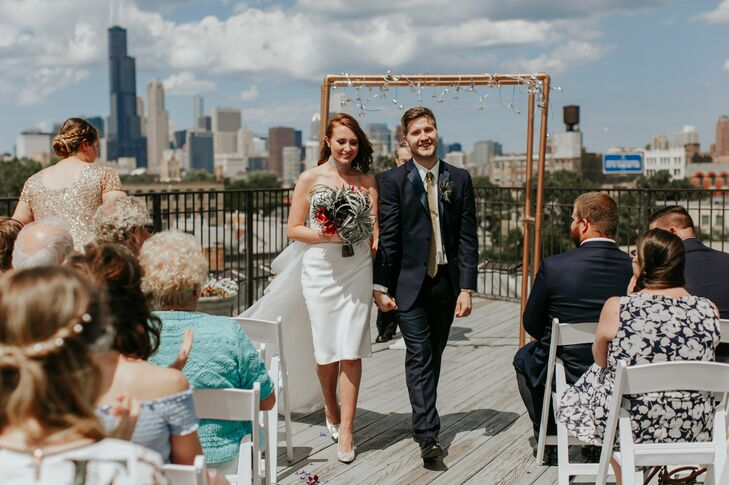 Rooftop Ceremony at the Lacuna Lofts in Chicago, Illinois