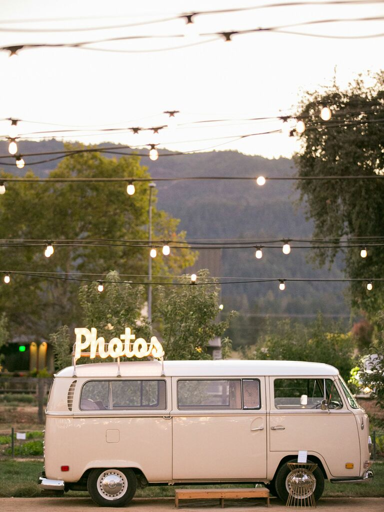 Retro Volkswagen wedding photobooth