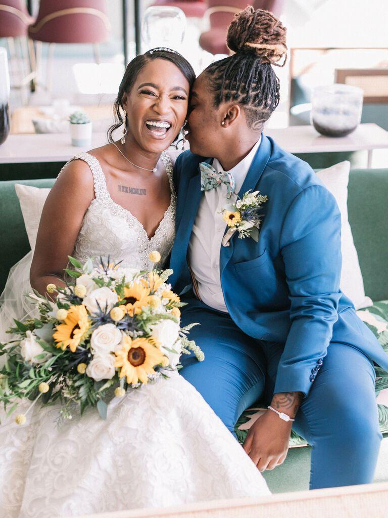 Brides on wedding day