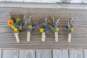 DIY Billy Ball and Thistle Boutonnieres
