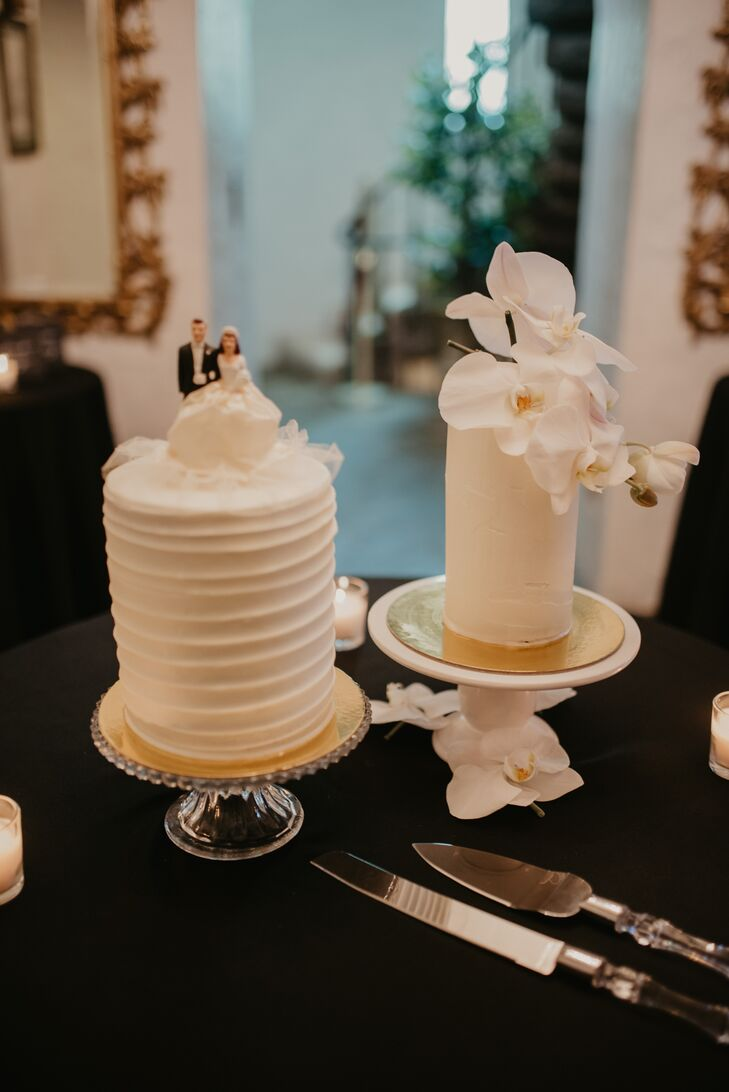 Two Small Wedding Cakes