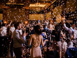 Guests on Dance Floor with Confetti