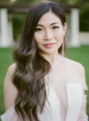 Bride with Relaxed Waves at Montalvo Arts Center in Saratoga, California