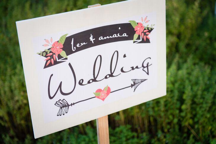 Sweet Homespun Wedding Sign