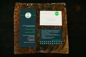 Modern Green Invitations