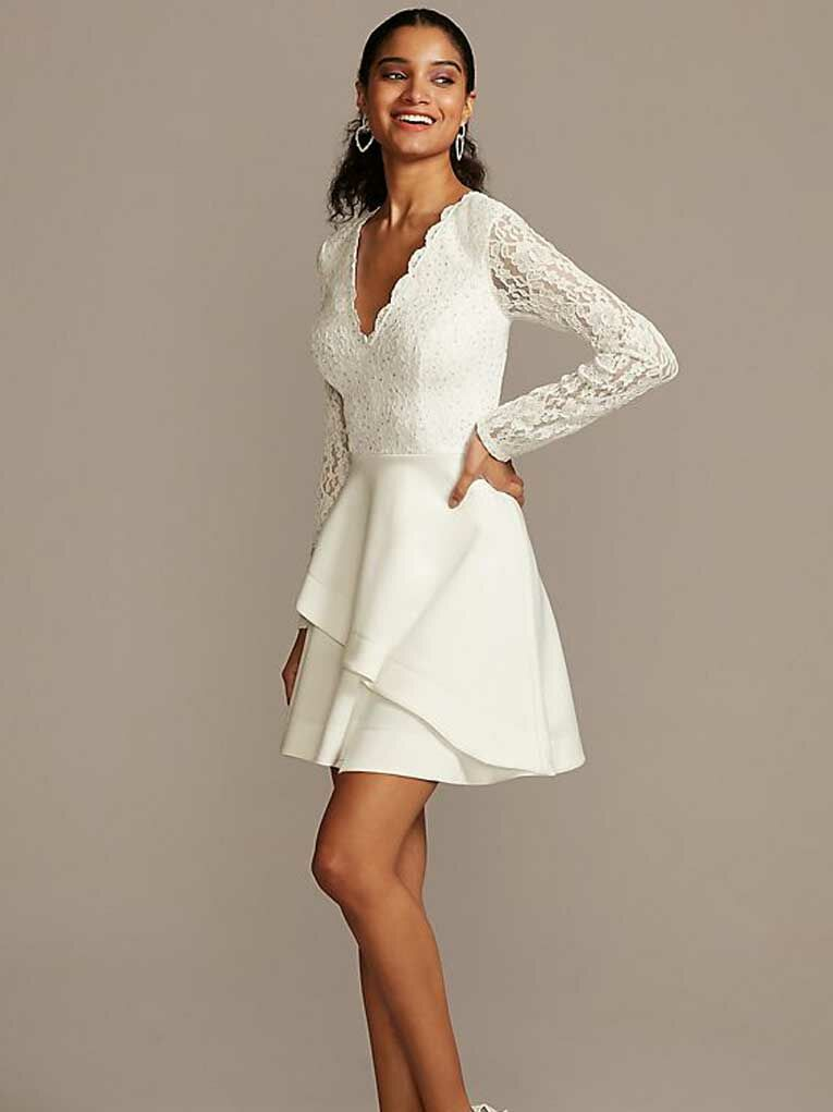 28 Trendy Short Wedding Dresses You Can Buy Now,Black Dress For A Wedding