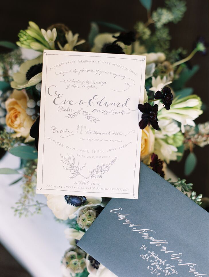 All Along Press created the gorgeous, hand-illustrated invitations.