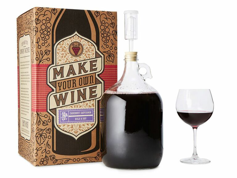 wine making kit gift for newlyweds