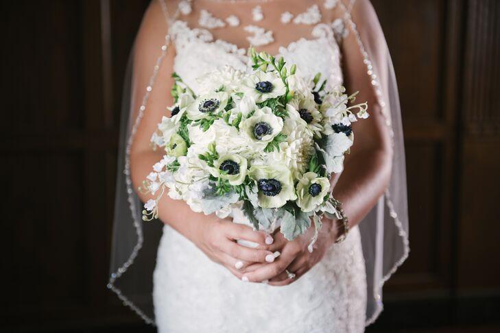 White Anemone Bridal Bouquet