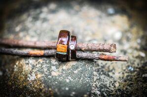 Custom-Made Wooden Wedding Rings