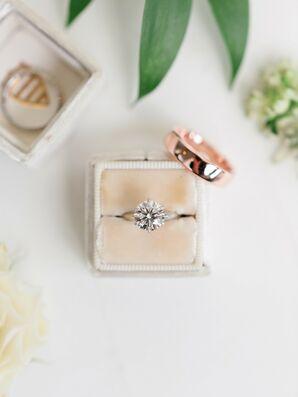 Diamond Engagement Ring in Velvet Ring Box