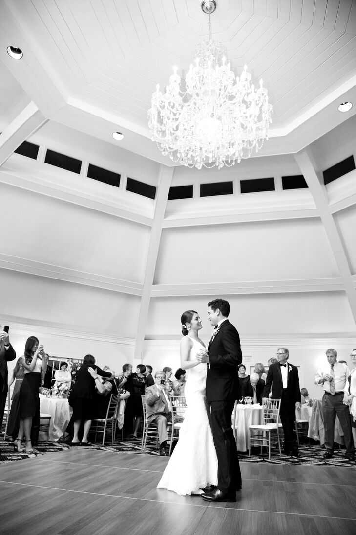 Dinner was followed by toasts and the couple's first dance as husband and wife.