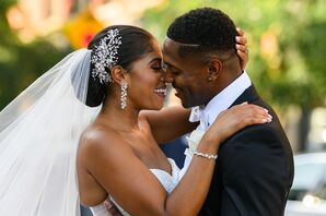 Couple Wedding Portraits at Cipriani Wall Street in New York City
