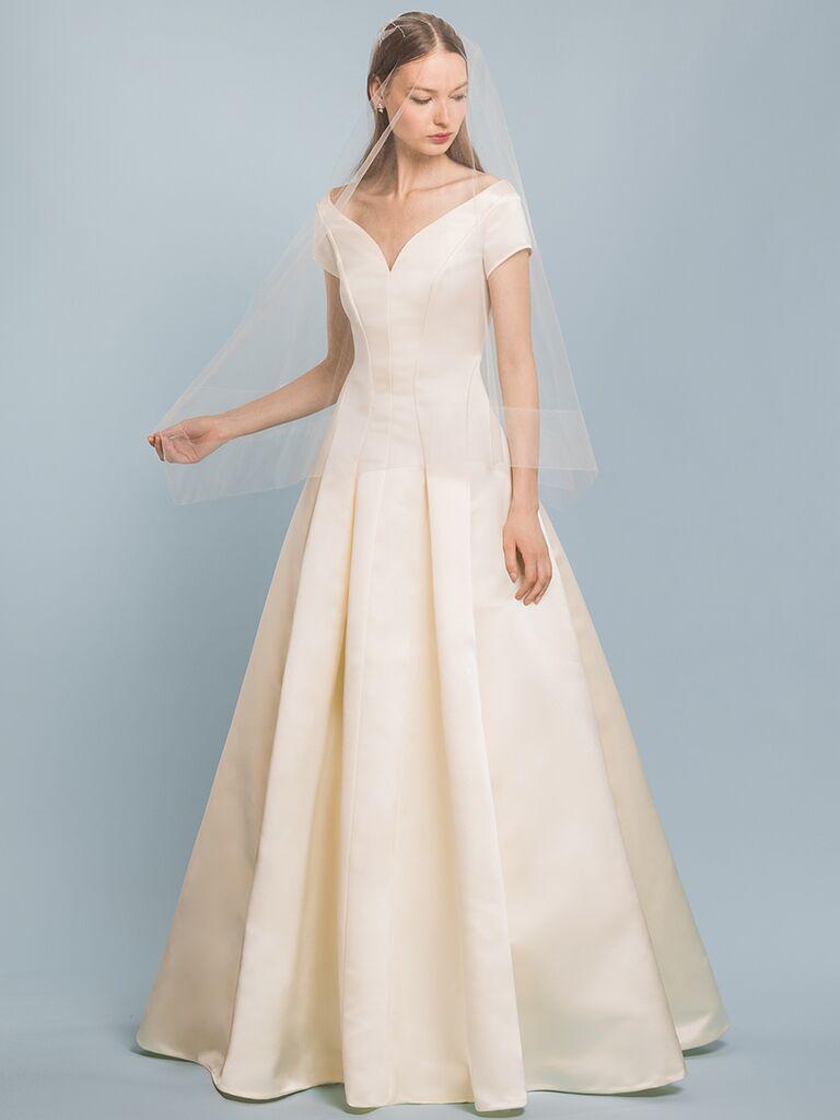 EDEM Demi Couture bateau dress with V-curve