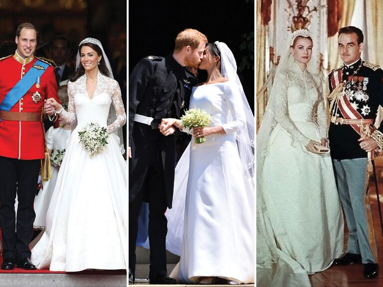 The most iconic royal wedding dresses prince william and catherine duchess of cambridge prince harry and meghan duchess of sussex junglespirit Images