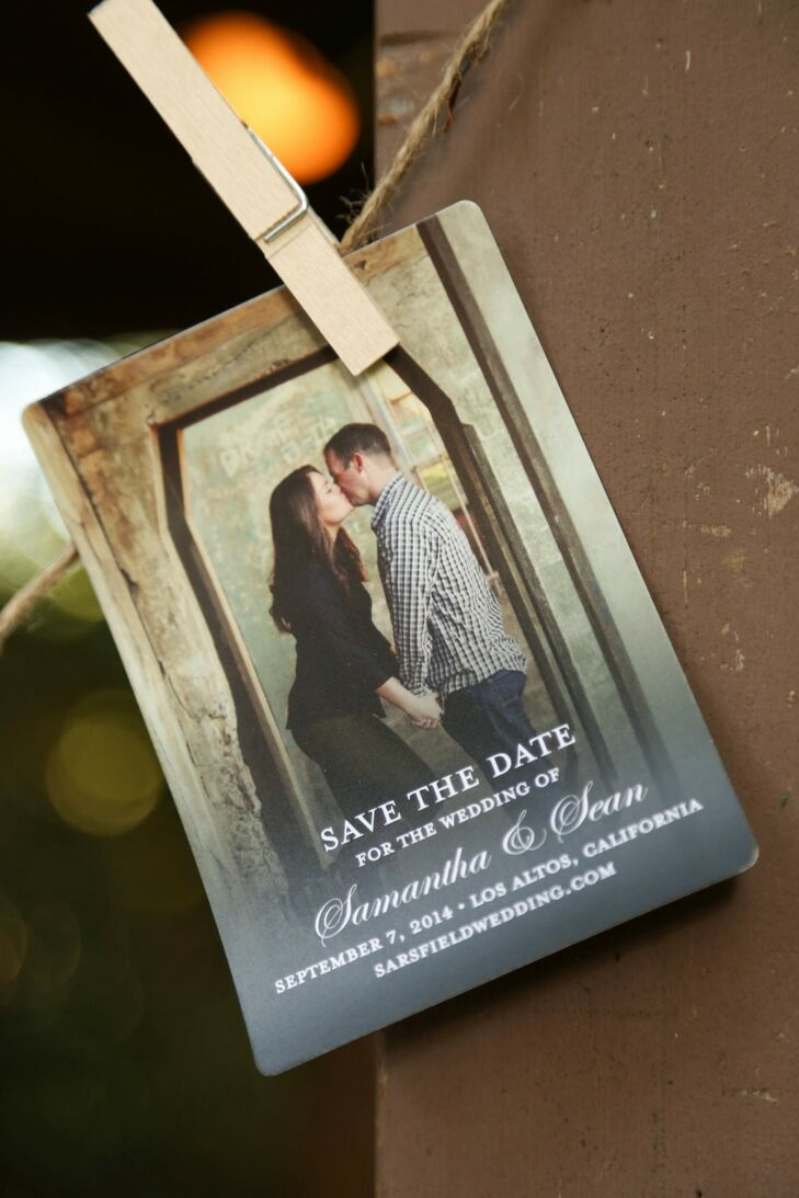Save-the-date Customized Card with Couple Photo