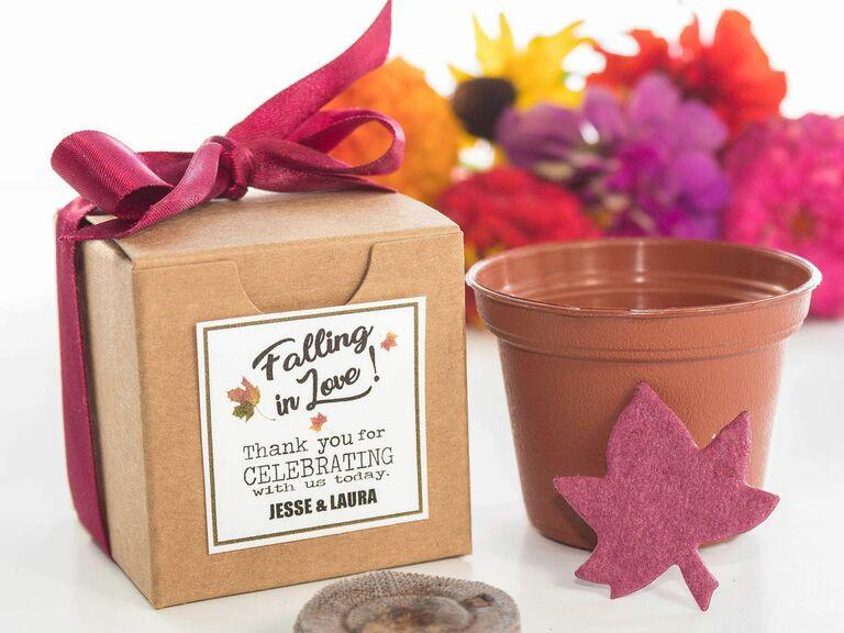 garden grow kit fall wedding favor