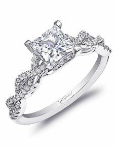 Coast Diamond Elegant Princess Cut Engagement Ring