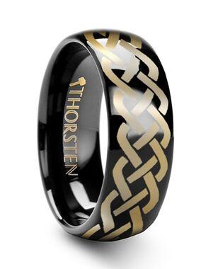 Mens Tungsten Wedding Bands T175-BTCK Tungsten Wedding Ring