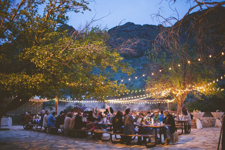Big Bend Outdoor Reception With String Lights