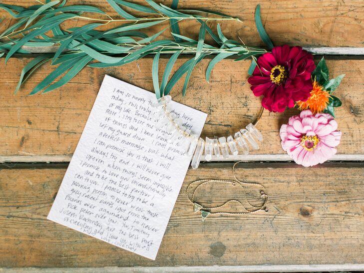 Handwritten Note for the Bride